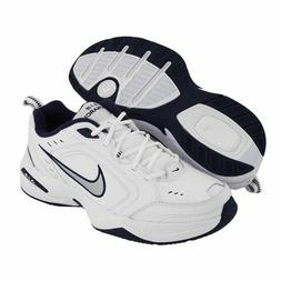 Nike AIR MONARCH IV Mens White Navy Walking Shoes WIDE & Med