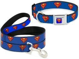 Buckle Down Seatbelt Dog Collar or Leash Superman Shield DC