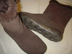 Skechers Go Walk Stunning Suede Leather/Faux Fur Lined Boots