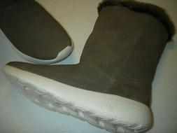 Skechers Go Walk Stunning Suede Leather/Fur Lined Boots Wome