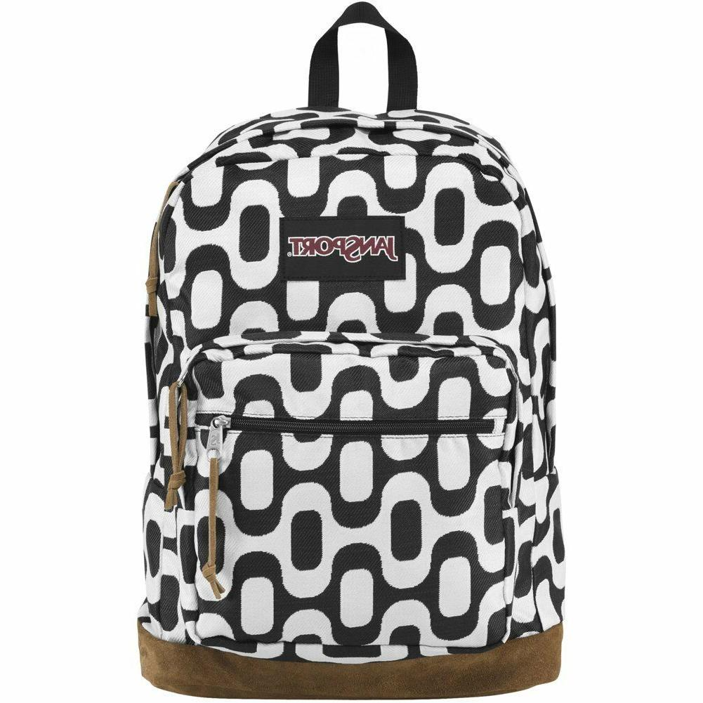 NWT JanSport RIGHT PACK World LAPTOP Suede Backpack Student