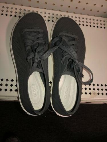 Crocs Citilane Court Womens Athletic Sneakers Size 10 Gray