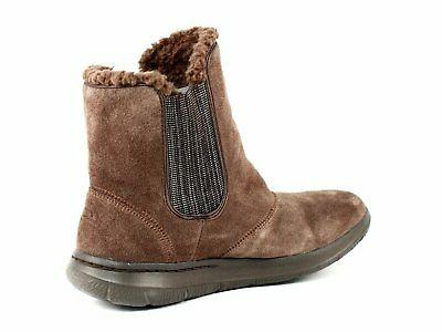 Skechers GO Chugga Women's Casual Ankle Warm Brown Suede Boots