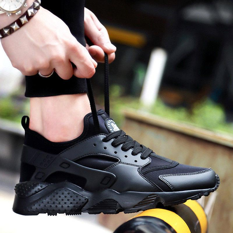 Men's Breathable Outdoor Running Shoes Lace Up Sport