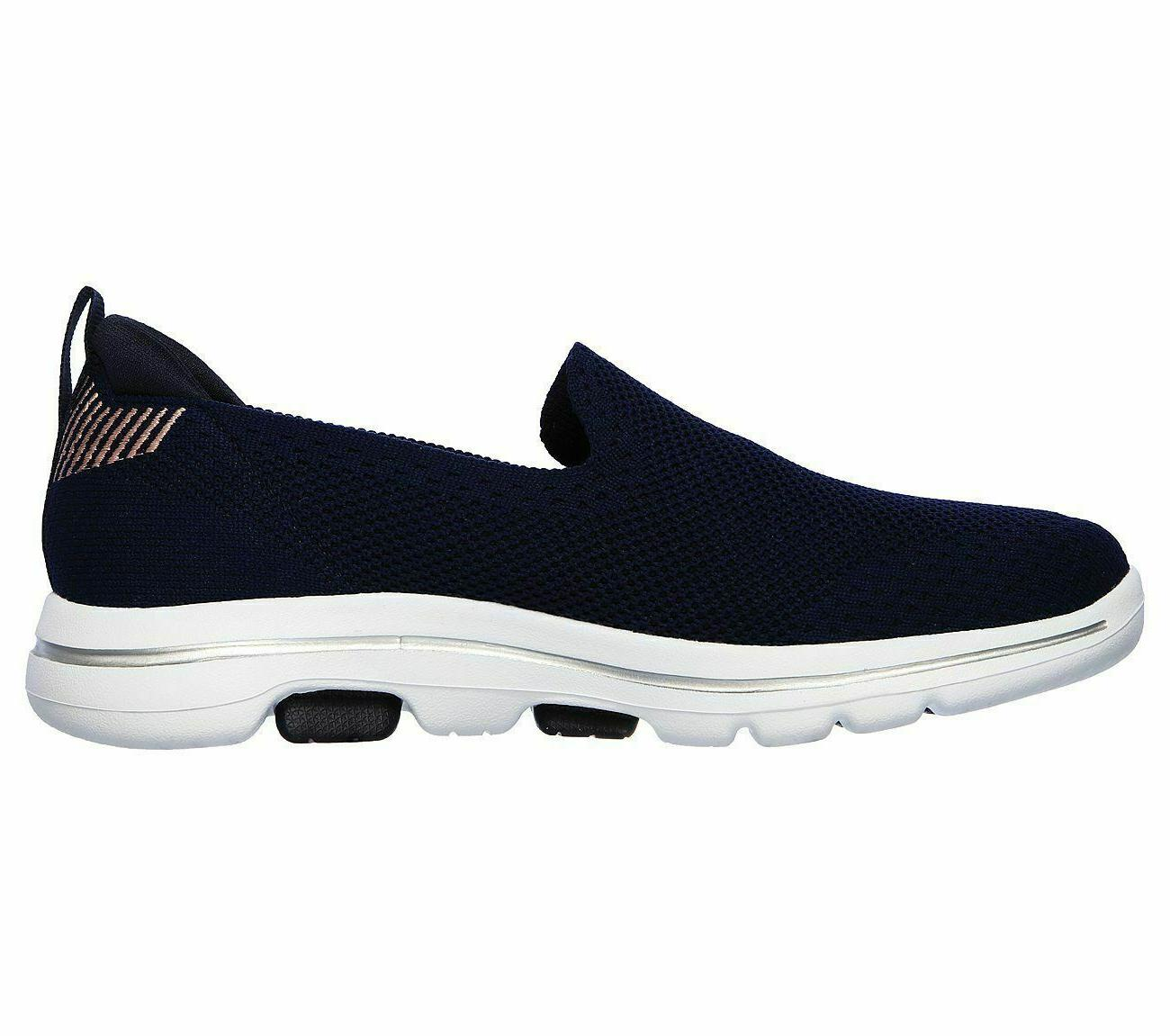 Navy Skechers Shoes Go Walk 5 Pink Casual On Sporty 15900