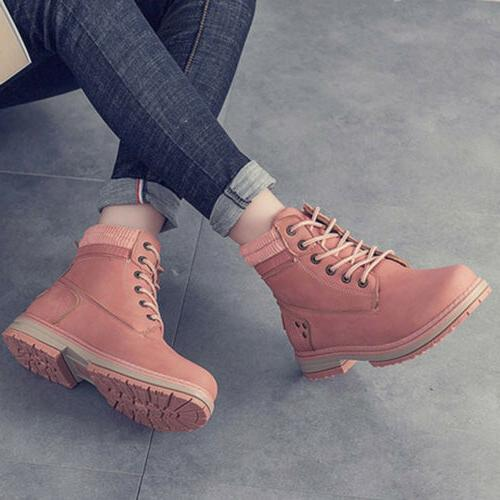 Women Walking Ankle Trainers Lace Up Shoes US