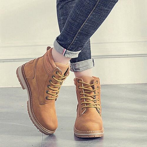 Women Walking Ankle Trainers Boots Lace Shoes