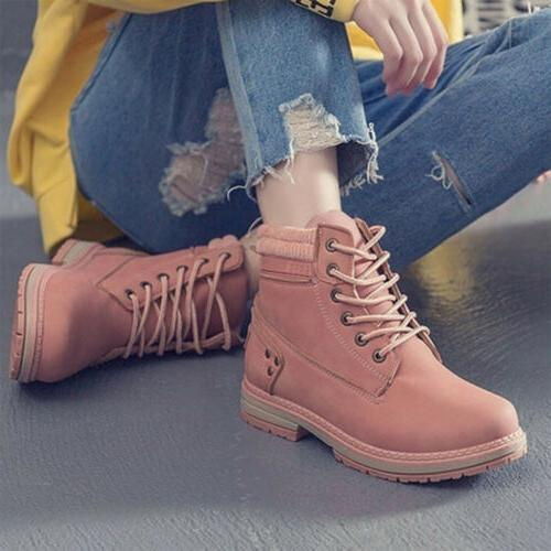 Women Grip Walking Ankle Boots Lace Up Snow