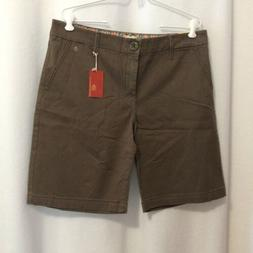 Levi's Tab Twill Shorts Sz 12 Weathered Brown Stretch Cotton