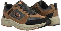 Skechers Mens Oak Canyon Low Top Lace Up Walking Shoes, Brow