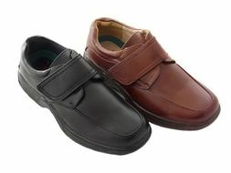 Mens Cushion Walk Touch Fasten Wide Fit Shoe With Gel Pad CL
