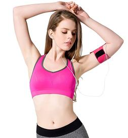 FITTIN Racerback Sports Bras Pink - Padded Seamless High Imp