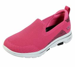 Skechers Shoes Pink Black Go Walk 5 Women's Casual Slip On C
