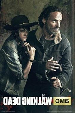 The Walking Dead Season 5 Rick and Carl in handcuffs poster
