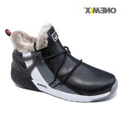 ONEMIX Women's Flats Winter Snow Ankle Boots Casual Slip On