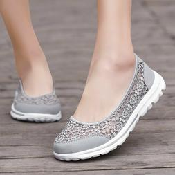 Women's Sneakers Casual Walking Flats Shoes Breathable Slip