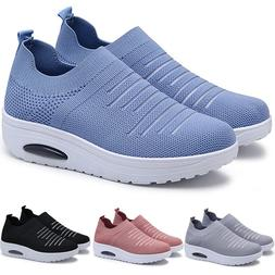 Womens Breathable Sneakers Trainers Sports Athletic Running