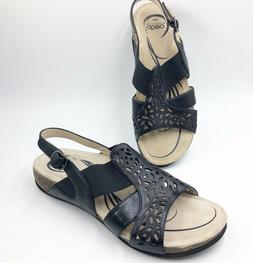 Abeo Womens Sandals size 8 Neutral Bria Leather Black The Wa